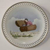 Hans Christian Andersen plate, The Flying Trunk, Bing & Grondahl