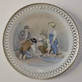 Hans Christian Andersen plate, The Darning Neddle, Bing & Grondahl