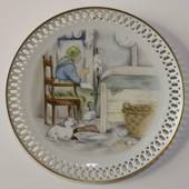 Hans Christian Andersen plate, The Ugly Duckling, Bing & Grondahl