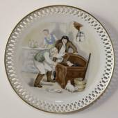 Hans Christian Andersen plate, Little Claus and Big Claus, Bing & Grondahl