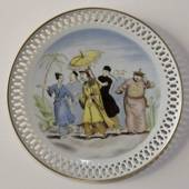 Hans Christian Andersen plate, The Nigthingale, Bing & Grondahl