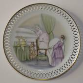 Hans Christian Andersen plate, the princess on the pea, Bing & Grondahl