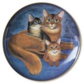 Bing & Groendahl plate with cat portrait