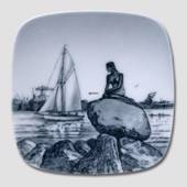 Plate with Langelinie and The Little Mermaid, Bing & Grondahl