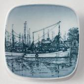 Plate with Fishing boats, Bing & Grondahl