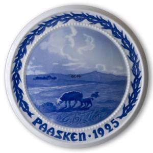 The Lost Sheep in the Moor 1925, Bing & Grondahl Easter plate | Year 1925 | No. BP1925 | Alt. BP250 | DPH Trading