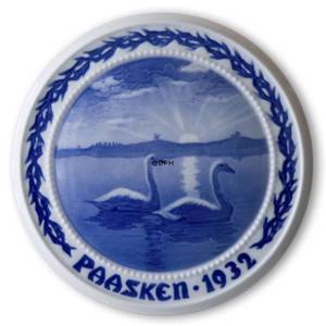 Swans on the Lake 1932, Bing & Grondahl Easter plate