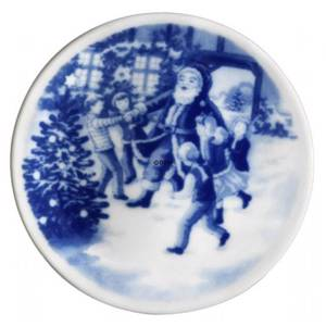 Bing & Grondahl Christmas plaquette 2006 Dansing with Santa | Year 2006 | No. BP2006 | Alt. 1506702 | DPH Trading