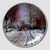 "Plate in the series ""Winter"" in Nordic Art"