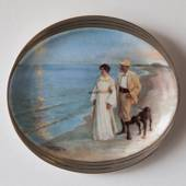 P.S. Kroyer oval plate, The Artist and his Wife, Bing & Grondahl