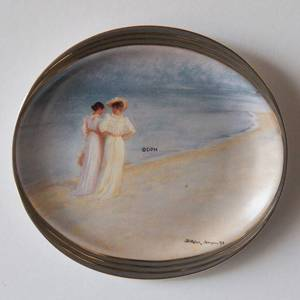 P.S. Kroyer oval plate, Summer Evening at the Skaw, Soenderstand, Bing & Gr...