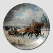 Plate no 1 in the series Behind the Thundering Hooves, Seltmann