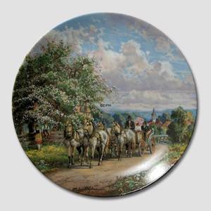 Plate no 3 in the series Behind the Thundering Hooves, Seltmann | Year 1989 | No. BRADEX22-C32-3-3 | DPH Trading