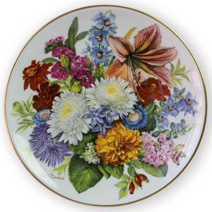 Hutschenreuter, Plate no 5 in serie Bands Bouquets of the Season | Year 1988 | No. BRADEX22-H82-26-5 | DPH Trading