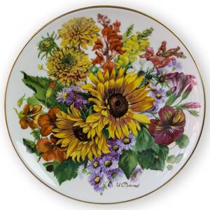 Hutschenreuter, Plate no 6 in serie Bands Bouquets of the Season