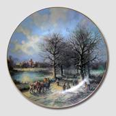 "Plate no 1 in the series ""Sceneries at Christmas"", Tirschenreuth"
