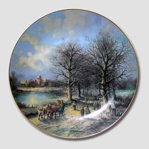 "Plate no 1 in the series ""Sceneries at Christmas"""