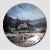 "Plate no 2 in the series ""Sceneries at Christmas"", Tirschenreuth"