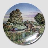 "Plate in the series ""The Romance of the Waterways"", Royal Worchester"
