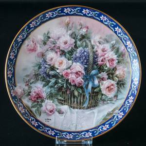 "W S George, Plate, ""Roses"" in the series of Lena Liu's Basket Bouguets"