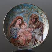 Knowles plate, Edna Hibel, Christmas plate 1987