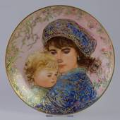 Knowles plate, Edna Hibel, Mother's Day 1987