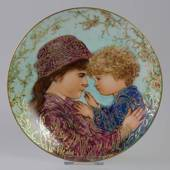 Knowles plate, Edna Hibel, Mother's Day 1988