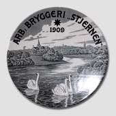 "Brewery plate, The Workers Brewery ""Stjernen"" (Star)"