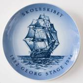 Ship plate, The Trainingship Georg Stage 1971, Bing & Grondahl