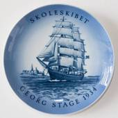Ship plate, The Trainingship Georg Stage 1972, Bing & Grondahl