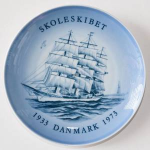 Ship plate, The Trainingship Denmark 1973, Bing & Grondahl | Year 1973 | No. BS1973 | Alt. BNR4870-619 | DPH Trading