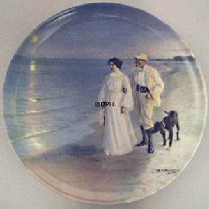 P.S. Kroyer plate The Artist and his Wife, Bing & Grondahl | Year 1988 | No. BSM2-3 | Alt. BRADEX14-B36-26-3 | DPH Trading