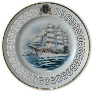 The Training Ship Denmark. Windjammer plate no.1, Bing & Grondahl