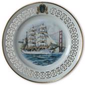 The Eagle - American Training Ship. Windjammer plate, number 2. Bing & Gron...