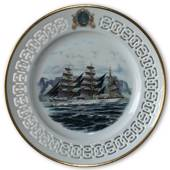 Gorch Fock - A German Training Ship. Windjammer plate number 4, Bing & Gron...