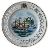 The Italian training ship Amerigo Vespucci. Windjammer plate no. 5 , Bing ...