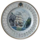 Norwegian training Ship Windjammer plate no. 6 , Bing & Grondahl