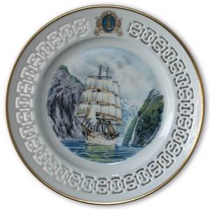 Norwegian training Ship Windjammer plate no. 6 , Bing & Grondahl | No. BW6 | Alt. BW60 | DPH Trading