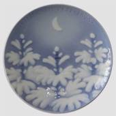 New Moon over the Snow Covered trees 1896, Bing & Grondahl Christmas plate