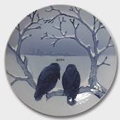 The Crows Enjoying Christmas1899, Bing & Grondahl Christmas plate