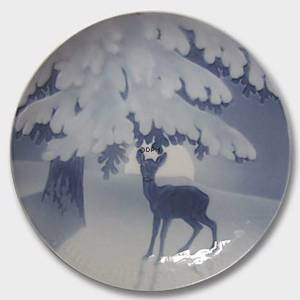 Anxiety of the coming Christmas Night 1905, Bing & Grondahl Christmas plate | Year 1905 | No. BX1905 | Alt. 1902105 | DPH Trading