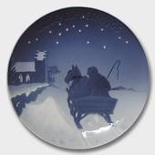 Sleighing to Church on Christmas Eve 1906, Bing & Grondahl Christmas plate