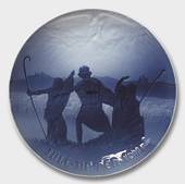 Bing & Grondahl Christmas plate 1911, First it was sung by the Angels to th...