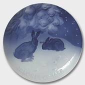 Hare in the Snow 1920, Bing & Grondahl Christmas plate