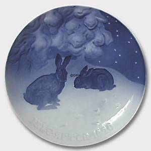 Hare in the Snow 1920, Bing & Grondahl Christmas plate | Year 1920 | No. BX1920 | Alt. 1902120 | DPH Trading