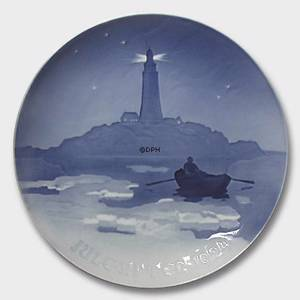 Lighthouse in Danish Waters, 1924 Bing & Grondahl Christmas plate