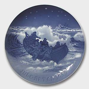 Lifeboat at work 1932, Bing & Grondahl Christmas plate