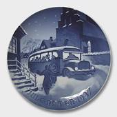 Arrival of Christmas guests 1937, Bing & Grondahl Christmas plate