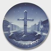 Commemoration Cross, World War II 1946, Bing & Grondahl Christmas plate