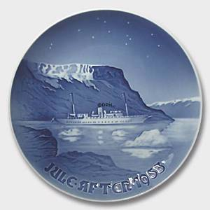 Royal Yacht in Greenlandic waters 1953, Bing & Grondahl Christmas plate